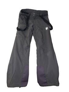 NWOT Mens Spyder Gray Bibs Snow Pants Size Large