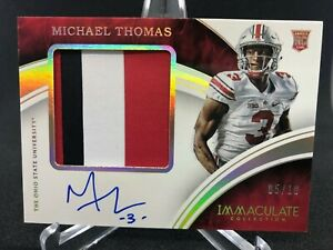 2016 Immaculate MICHAEL THOMAS RC Rare Rookie Patch Auto SSP 05/10