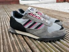 Deadstock Men's VINTAGE Adidas Marathon TR UK 10.5 Made in Korea 80s 90s