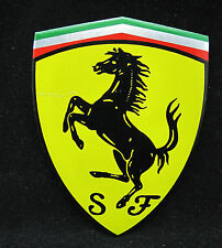 Ferrari Car Badge Aluminium Sticker Decal - Large Badge