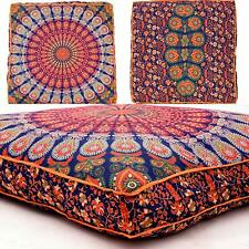 """Cushion Floor Pillow Mandala Case Ottoman 35"""" Indian Square Dog Bed Cover Pouf"""