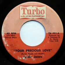 LINDA JONES 45 Your Precious Love TURBO soul STRONG VG one-sided promo h1044