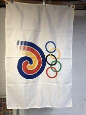 Vtg Seoul 1988 USA Olympic Flag Banner South Korea 23 x 36 Size Duffle Bag Find
