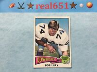 1975 NFL Topps #175 BOB LILLY | Nicely Centered Vintage | Dallas Cowboys HOF