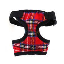 4 color Adjustable Pet Dog Puppy Cat Plaid Mesh Harness Vest Clothes For Walking