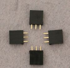 50PCS New Single Row 1x3 pins 2.54mm Female Header Straight Connector NEW