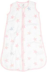 ADEN by Aden + Anais Stars Sleeping Bag Baby Size MEDIUM 6 - 12 Months NEW pink