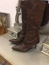 Vintage Brown Ladies Calf Length Boot size UK6 EU39 pre-owned VGC REDUCED !!!