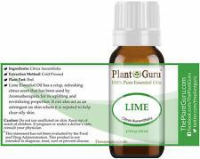 Essential Oils Lime Cold Pressed 100% Pure Citrus Aurantifolia 10 ml