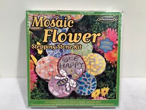 Milestones Mosaic Stepping Stone Kit, Makes a 12-in Stone 4 Design NEW IN BOX