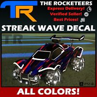 [PS4/PSN] Rocket League Every Painted STREAK WAVE Rocket Pass 2 Universal Decal