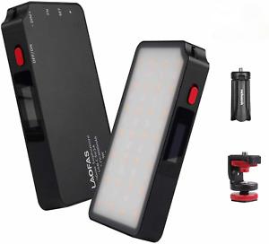 LAOFAS 8W 52pcs RGB LED Video Light 2500-8500k Built in Magnet+ Tripod+Gift