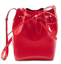 Authentic Mansur Gavriel Mini Mini Bucket Bag - Patent Flamma Red - New w/Tags