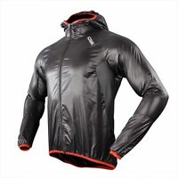SOBIKE Cycling Wind Coat Long Jersey Ultra-Light Men's Sports Jacket Black Flach