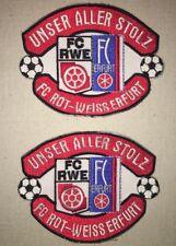 FC Rot-Weiß Erfurt Patches - Unser Aller Stolz FC Rot Weiss Erfurt Patch Set