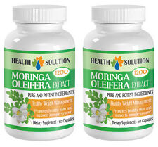Fat Burner Slimming Pills - Moringa Oleifera Leaf Powder Extract - 120 Capsules