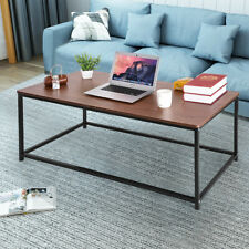 Coffee Tables Tea Table Desk Wood Furniture with Metal Frame Office Home Table`A