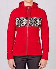 Spyder Womens Soiree Midweight Core Sweater Jacket Hoody Size LARGE NWT Red