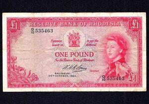 Rhodesia  1 POUND  1964  P-25