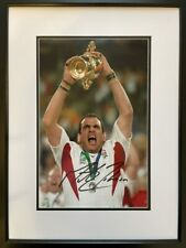 More details for signed framed martin johnson england rugby union 2003 world cup autograph photo