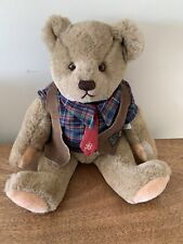 Vintage 1982 GUND Plush Stuffed BIALOSKY BEAR Teddy Plaid Shirt Tie Vest