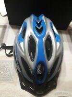 casco bici strada abus aduro m 52-58 grigio blu