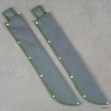 "Lot of 2 18"" Army Green Canvas Machete Sheaths For 2-1/2"" Wide Straight Blade"