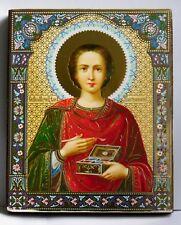 Ikone heiliger Pantaleon икона святого целителя Пантелеймона освящена 18x15x2 cm