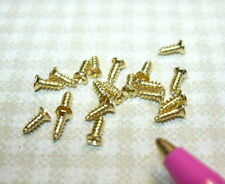 Miniature Very Tiny Brass Screws (20 ct): DOLLHOUSE Hardware Miniatures
