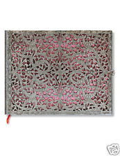Paperblanks Guest Book Writing Journal Lined Silver Filigree Blush Pink 9x7 NWT