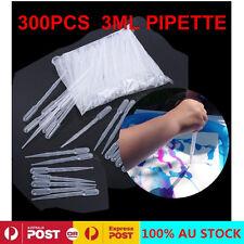 300Pcs Plastic Disposable 3ML Graduated Transfer Pipettes Eye Dropper Set AU