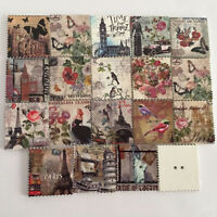 50pcs/Lot Vintage Wooden Postcards Iron Tower Print Retro Cards Gift Collection
