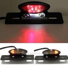 LICENSE PLATE MOUNT MOTORCYCLE LED TAIL LIGHT FOR ATV UTV GO CARD BUGGY DIRT BIK
