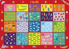 Numbers 1 to 20 - Children's Educational Placemat by Little Wigwam