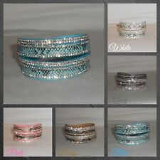 Bracelet,Cuff,Wrap,Crystals,Grey...Sparkle and Snakeskin Style Wrap Cuff (WB.G)