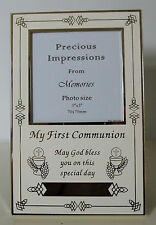 """Holy Communion Verse Frame Holds 3"""" x3"""" Photo Can Be Engraved"""
