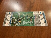 1973 Notre Dame vs Air Force Full Unused Ticket Ara Parseghian Autographed
