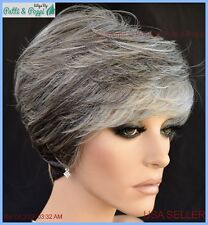 Tango Lace Front  Wig by Revlon Wigs Canyon Stone Grey Short Cute