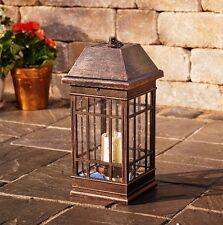 Mission Style Solar Lantern Outdoor Lighting LED Lamp Patio Garden Light Fixture