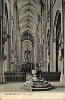 Halberstadt Sachsen-Anhalt AK ~1910 Dom Innenraum Inneres Verlag Louis Glaser