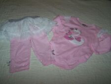 Girl 3-6 Mo~Outfit~Pink Bodysuit & Skirted Pant~DDG Darlings/$Gen~NWT~E21