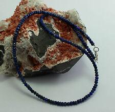 Collar de Lapis Piedras Preciosas Tallado en Facetas Lapislázuli Cadena Azul