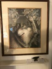 vintage lone wolf print by rathburn 1990