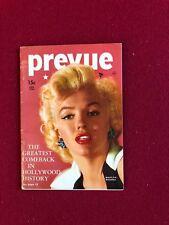 "1954, Marilyn Monroe, ""PREVUE""  Magazine (Scarce)"