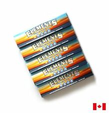 ELEMENTS Ultra Thin Rice King Size Slim Cigarette Rolling Papers - 5 Booklets