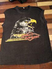 Super Thin Vintage 80s Screen Stars Eagle Muscle Tee T-shirt Harley Davidson