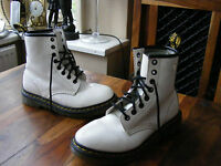 White Leather Ladies Womens Girls Dr Martens Ankle Boots 1460W UK 4 EU 37 US 6 L