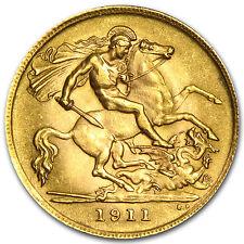 1871-2014 Great Britain Gold 1/2 Sovereign Avg Circ - SKU #10982