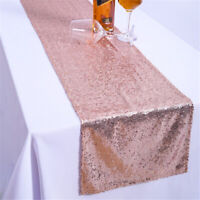 """Glitter Sequin Table Runner Sparkly Wedding Party Decor 12 """"x 70"""""""