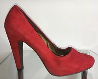 PEDRO MIRALLES Damen Pumps High Heels Schuhe Sexy Party Plateau Rot Gr.38 (US 8)